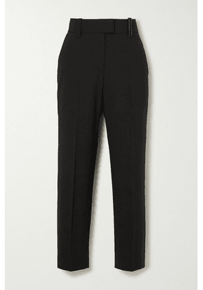 Brunello Cucinelli - Embellished Wool-blend Tapered Pants - Black