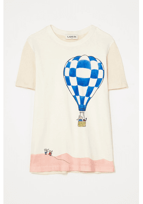 Lanvin - Paneled Printed Cotton-jersey T-shirt - White