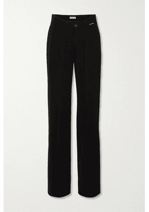Balenciaga - Stretch-crepe Straight-leg Pants - Black