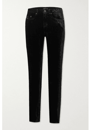 SAINT LAURENT - Stretch-velvet Skinny Pants - Black