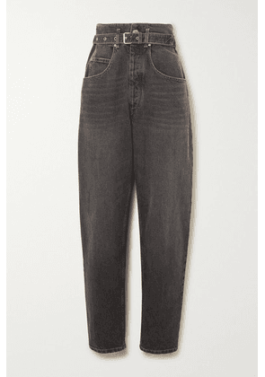 Isabel Marant Étoile - Gloria Belted High-rise Tapered Jeans - Black