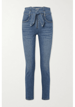 Reformation - Yasmin Belted High-rise Straight-leg Jeans - Blue