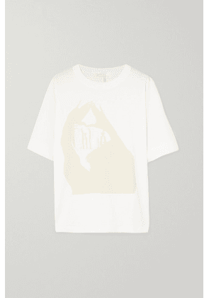 Chloé - Oversized Printed Cotton-jersey T-shirt - White