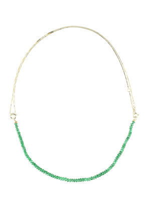 Princesa Kit 9kt gold tsavorite and pearl necklace