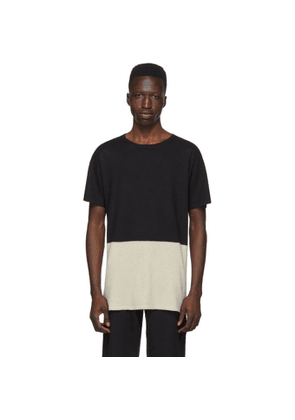 Frenckenberger Black and Off-White Cashmere T-Shirt