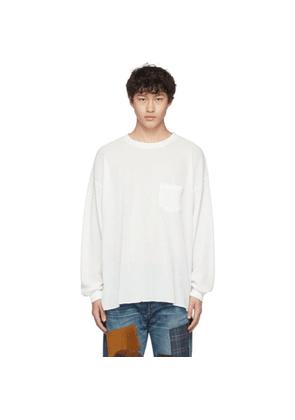 Remi Relief Off-White Waffle Long Sleeve T-Shirt