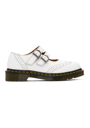 Comme des Garcons Comme des Garcons White Dr. Martens Edition Made In England Mary Jane Loafers