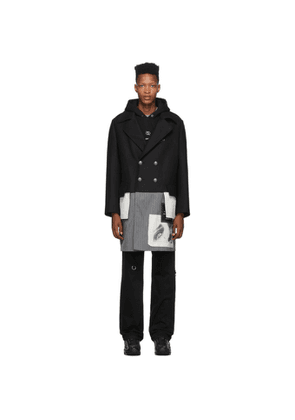 Palm Angels Black and Multicolor Tag Coat
