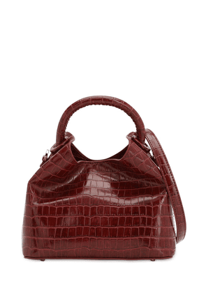 Baozi Croc Embossed Leather  Bag