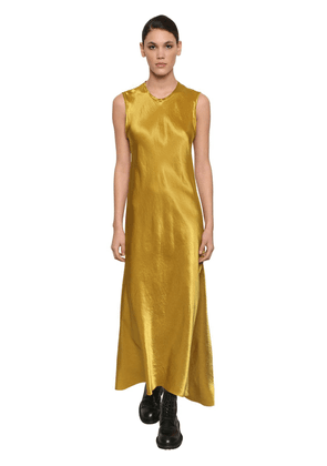 Long Asymmetric Satin Dress