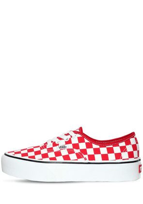 Authentic Platform Checkered Sneakers