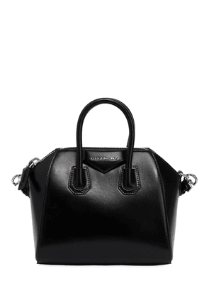 Mini Antigona Polished Leather Bag