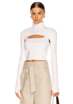 Dion Lee Stirrup Top in Ivory - White. Size M (also in ).