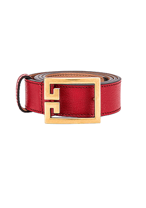 Givenchy Logo Buckle Belt in Vermillion - Red. Size 90 (also in ).