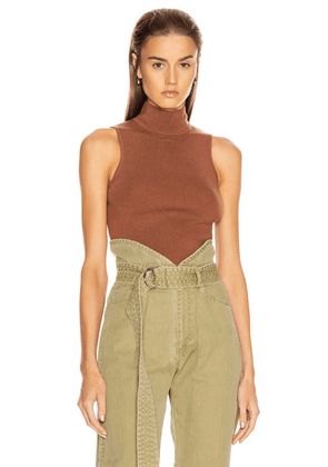 Marissa Webb Holly Turtleneck Pullover in Copper - Brown. Size M (also in S,XS).