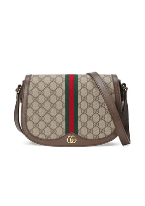 Gucci Ophidia GG Shoulder Bag in Beige Ebony - Brown,Neutral. Size all.