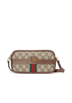 Gucci Ophidia GG Chain Camera Bag in Beige Ebony - Brown,Neutral. Size all.