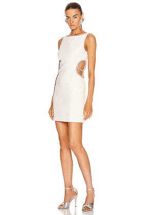 HANEY Roselyn Dress in White - White. Size 0 (also in ).