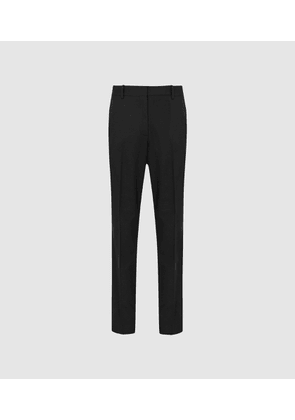 Reiss Hartley Slim Leg - Textured Tailored Trousers in Black, Womens, Size 6S