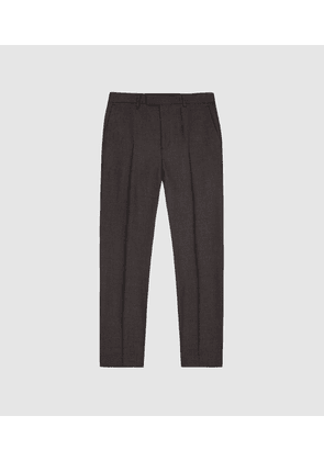 Reiss Wanderer - Modern Fit Tailored Trousers in Grey, Mens, Size 28