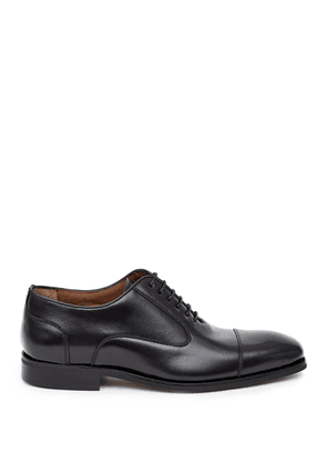 Reiss Reston - Leather Oxford Toe Cap Shoes in Black, Mens, Size 7