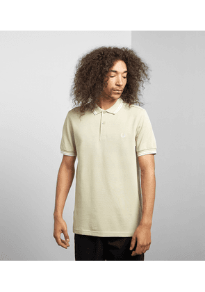 Fred Perry Twin Tipped Short Sleeve Polo Shirt, Flint/White