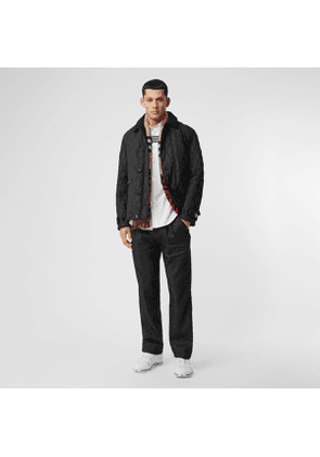 Burberry Diamond Quilted Jacket with Warmer, Black