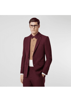 Burberry English Fit Wool Mohair Tailored Jacket, Purple