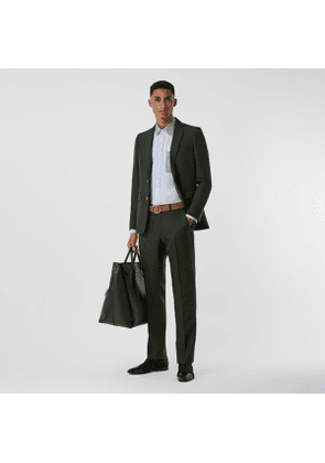 Burberry Classic Fit Wool Mohair Tailored Trousers, Green