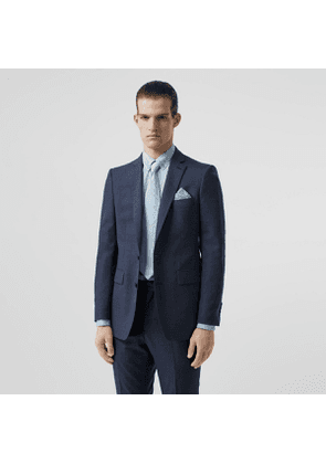 Burberry Classic Fit Wool Tailored Jacket, Blue