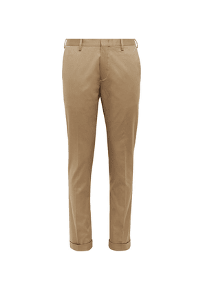 Paul Smith - Slim-fit Cotton-blend Twill Trousers - Sand