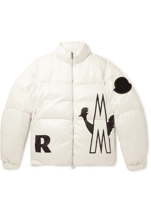 Moncler - Friesian Printed Quilted Shell Hooded Down Jacket - Off-white