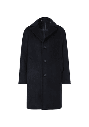 Private White V.C. - + Woolmark Wool And Cashmere-blend Coat - Navy