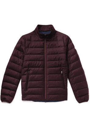 Loro Piana - Gateway Quilted Rain System Wool And Silk-blend Down Jacket - Burgundy