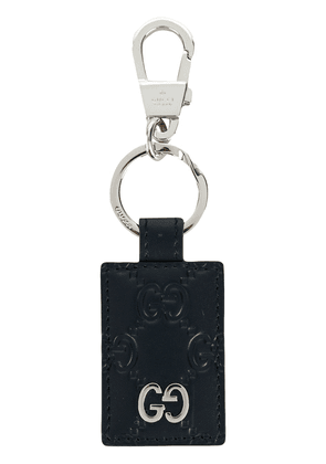 Gucci signature textured keyring - Blue