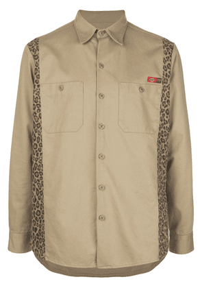 Opening Ceremony x Dickies 1922 leopard print shirt - NEUTRALS