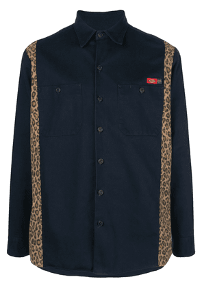 Opening Ceremony contrast-panel shirt - Blue