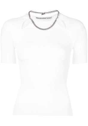 Alexander Wang chain-detail fitted top - White