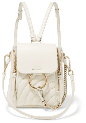 Chloé - Faye Mini Quilted Leather Backpack - White