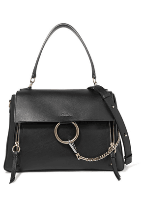 Chloé - Faye Day Large Textured-leather Shoulder Bag - Black