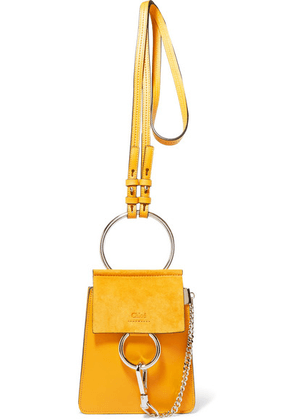Chloé - Faye Bracelet Leather And Suede Shoulder Bag - Mustard