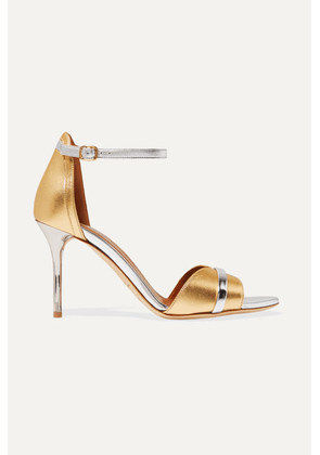 Malone Souliers - Honey 85 Two-tone Metallic Leather Sandals - Gold