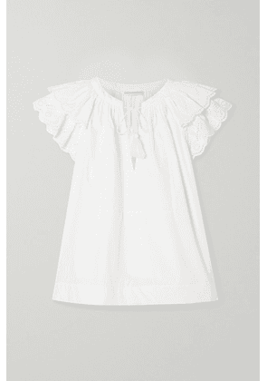 Ulla Johnson - Elm Broderie Anglaise-trimmed Cotton-poplin Blouse - White