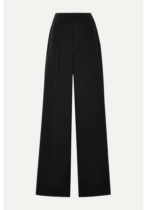 Alice + Olivia - Lorinda Brushed-twill Straight-leg Pants - Black