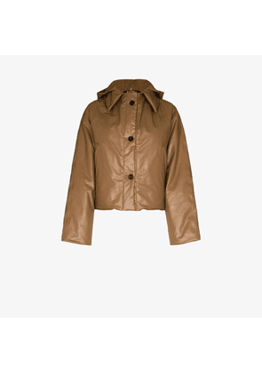 Kassl Editions cropped hooded puffer jacket
