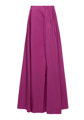 Valentino Pleated Cotton-Blend Maxi Skirt Size: 40