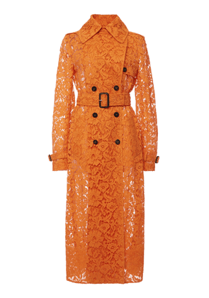 Valentino Belted Lace Trench Coat Size: 38