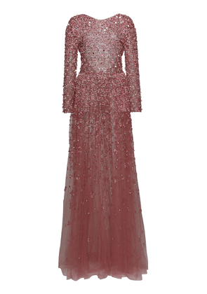 Valentino Bead-Embellished Tulle Gown Size: 38