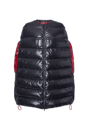 Valentino Logo Hooded Puffer Cape Size: 40