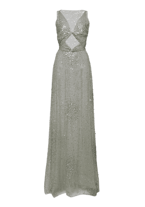 Valentino Cutout Sequin Embellished Tulle Gown Size: 36
